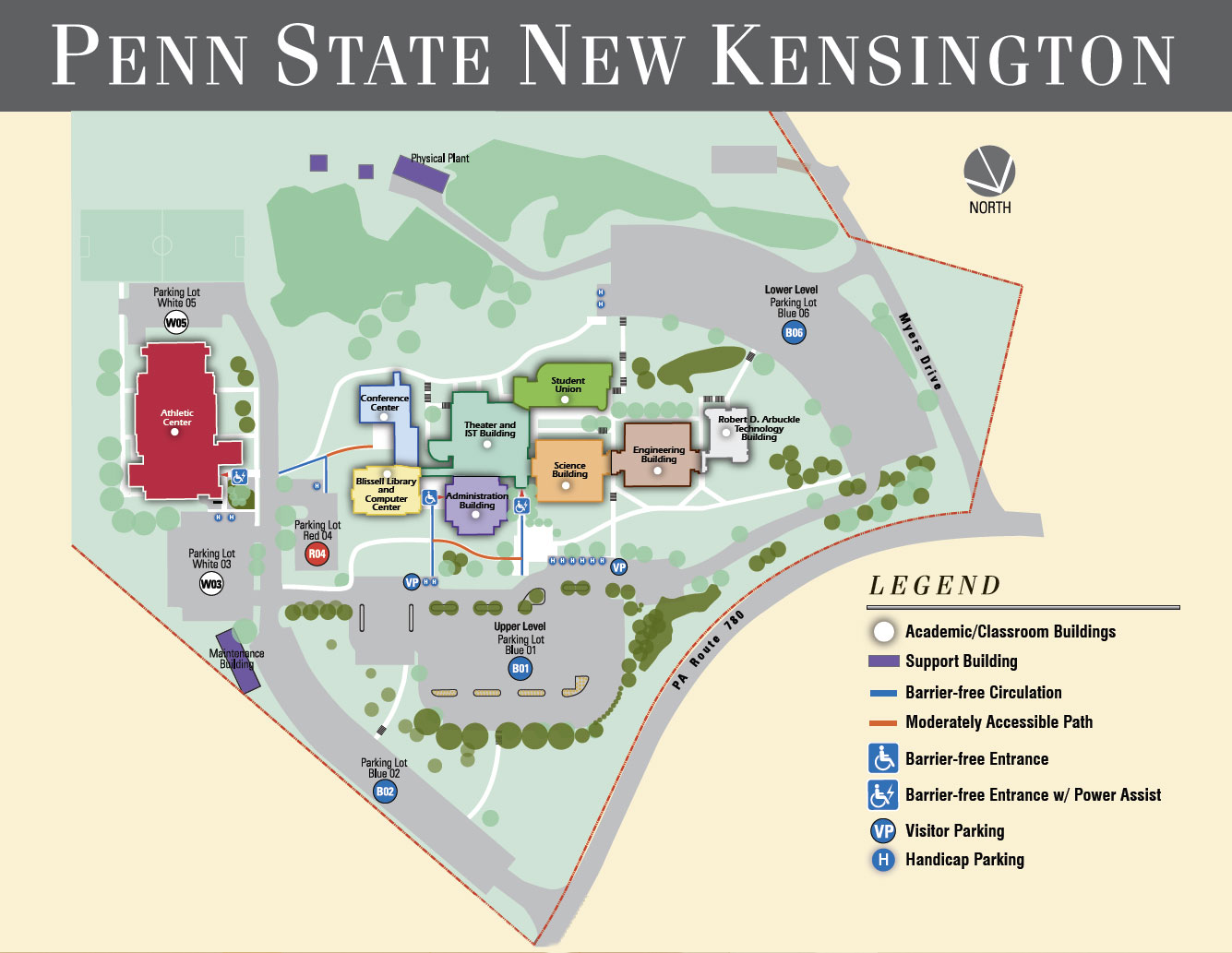 Campus Map Penn State New Kensington