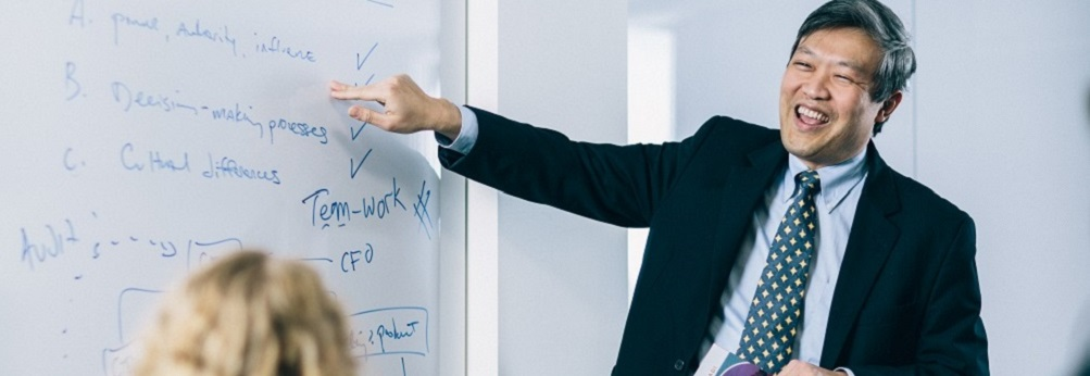 Instructor teaching a class