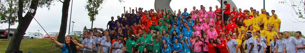 New Student Orientation group photo