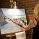 Joyce Werwie Perry paints at the Off the Wall pARTy