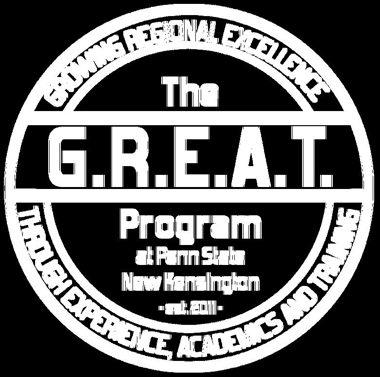 white GREAT program logo
