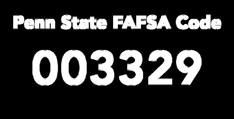 Penn State FAFSA Code: 003329