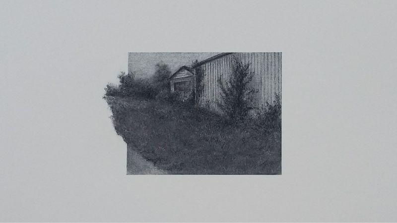 Lauren Scavo charcoal drawing of building