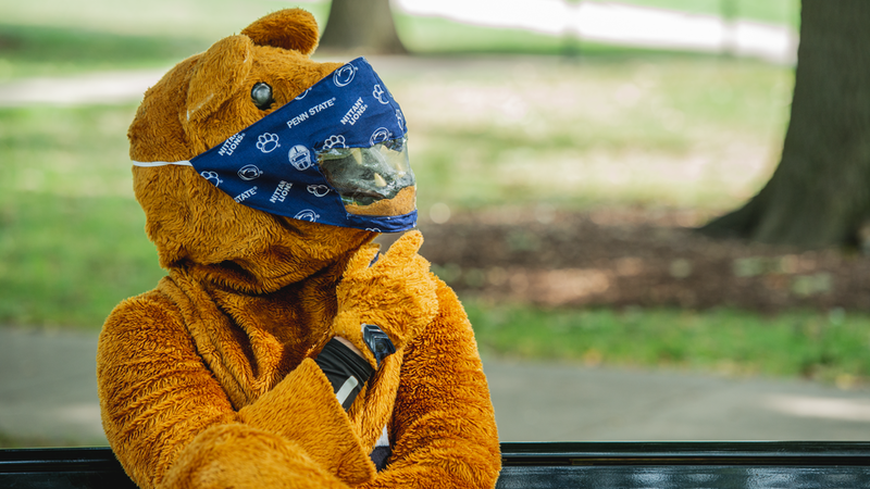 Nittany Lion with mask