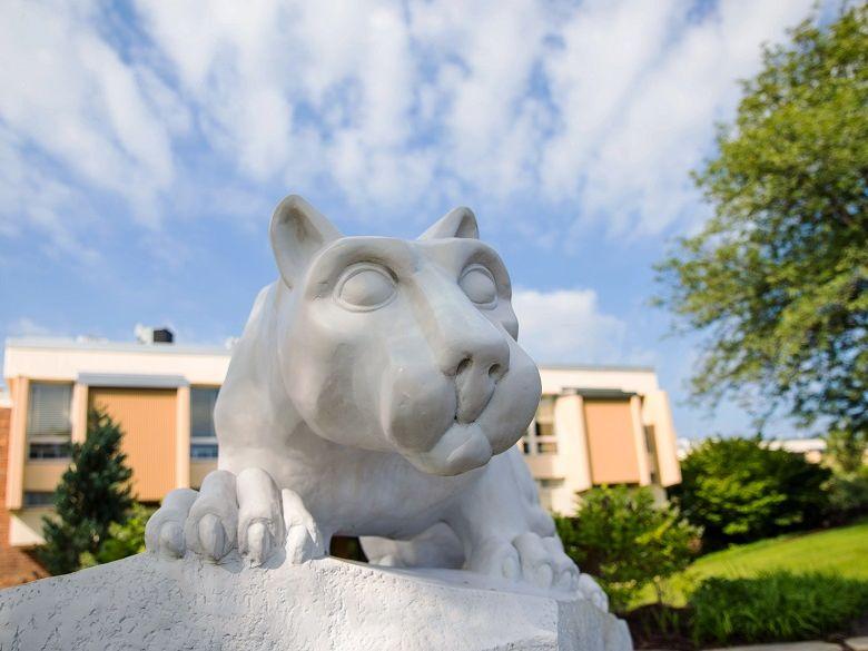 Lion shrine statue