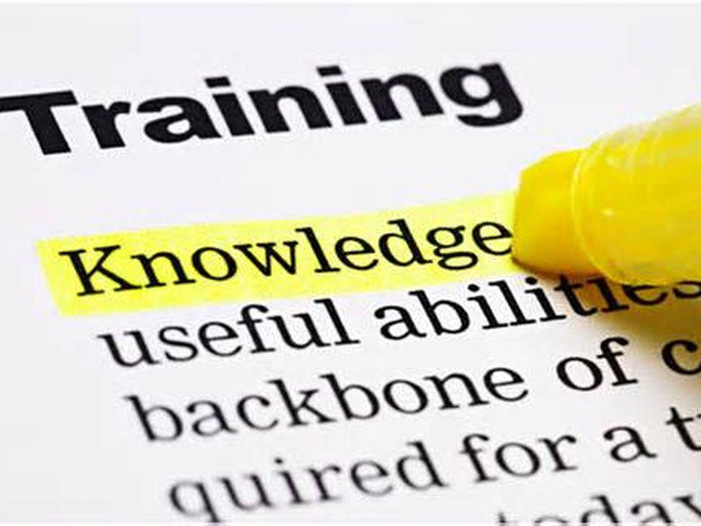A piece of paper that highlights training is knowledge