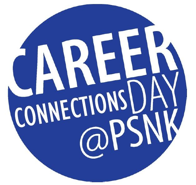 Logo for Career Connections Day at PSNK.  Logo is a purple circle with white font.