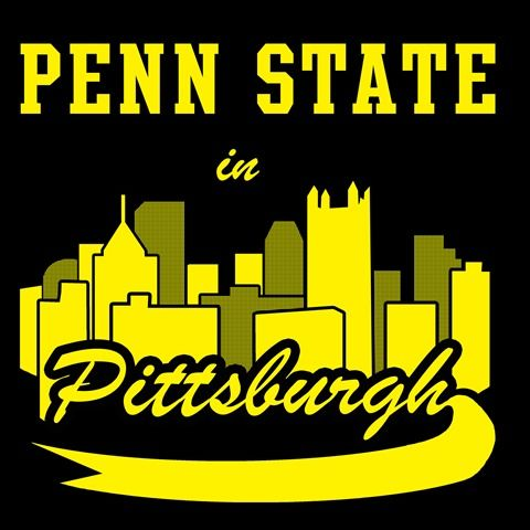 Penn State in Pittsburgh logo - a silhouette of the skycrapers in Pittsburgh