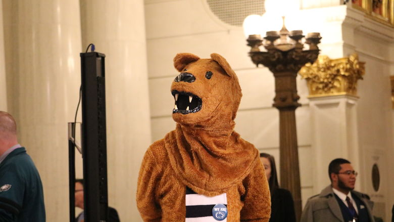 Nittany Lion mascot standing