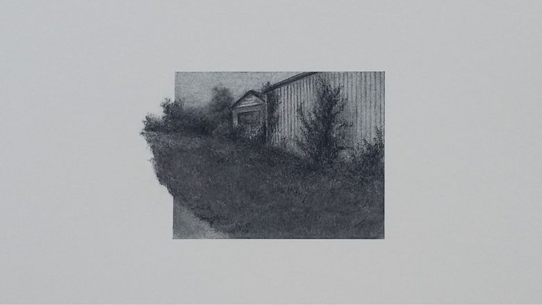 Lauren Scavo charcoal drawing of building